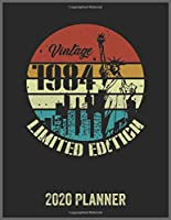 Vintage 1984 Limited Edition 2020 Planner: Daily Weekly Planner with Monthly quick-view/over view with 2020 Planner