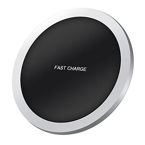 ワイヤレス充電器 QI BONAKO 航空機用合金本体ケース 多重保護 QI急速充電 ワイヤレスチャージャー USBケーブル付属 日本語説明書付き 保証書付き iPhone 8 / iPhone 8 Plus / iPhone X / Galaxy S8 / S8 plus / S7 / S7 Edge / Nexus / LG G6 / Xperia 他Qi規格対応 ( ブラック )