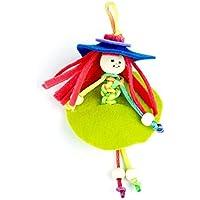 Seedling Wood Bead Keychain Dolls [並行輸入品]