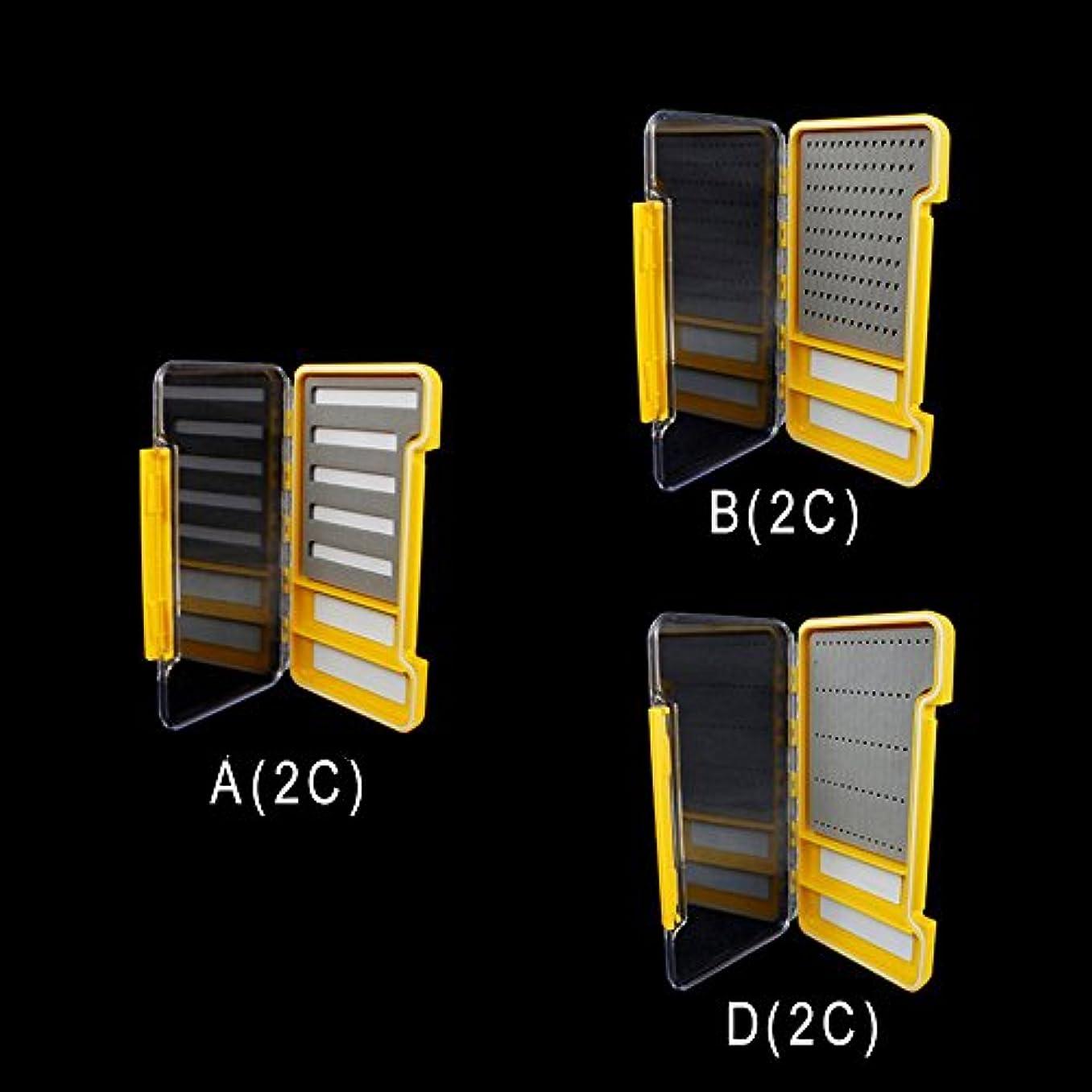 うませっかち休憩riverruns 3つカラー選択肢2磁気コンパートメントスーパースリム&透明100 %防水フライフィッシングボックス – Great to Store Hooks/Flies Bait/Swivels