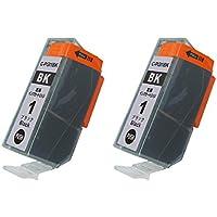 Canon キャノン 互換インクカートリッジ PGI-1 対応 PGI-1BK ブラック 単品2本セット ICチップ付き 残量表示機能 PIXUS MX7600 PIXUS iX7000