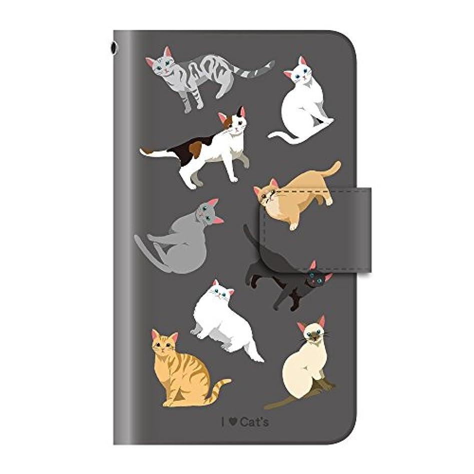 レコーダーサーマルバッジネコ 黒猫 動物(手帳型)【09.ネコがいっぱい】 iPhone6s / iPhone6 手帳型 ケース カバー アイフォン