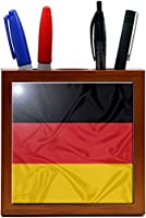 Rikki Knight 5-Inch Germany Flag Design Wooden Tile Pen Holder (RK-PH1661) [並行輸入品]