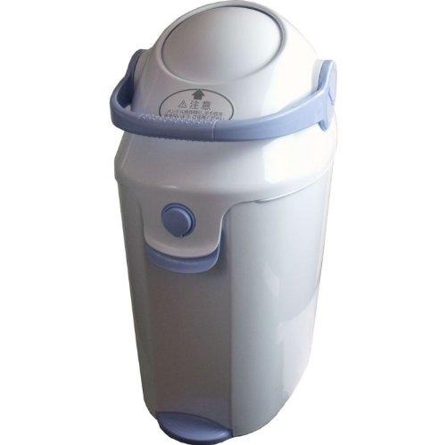 人気 ベビーおむつゴミ箱 片手でポイ 家庭用のゴミ袋が使用できます