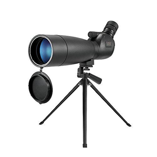 Lixada Visionking 20-60x80 フィールドスコープ 単眼望遠鏡 BaK4 防水 防曇 ポータブル 三脚 キャリーケース付き 旅行 バードウォッチングキャンプ用