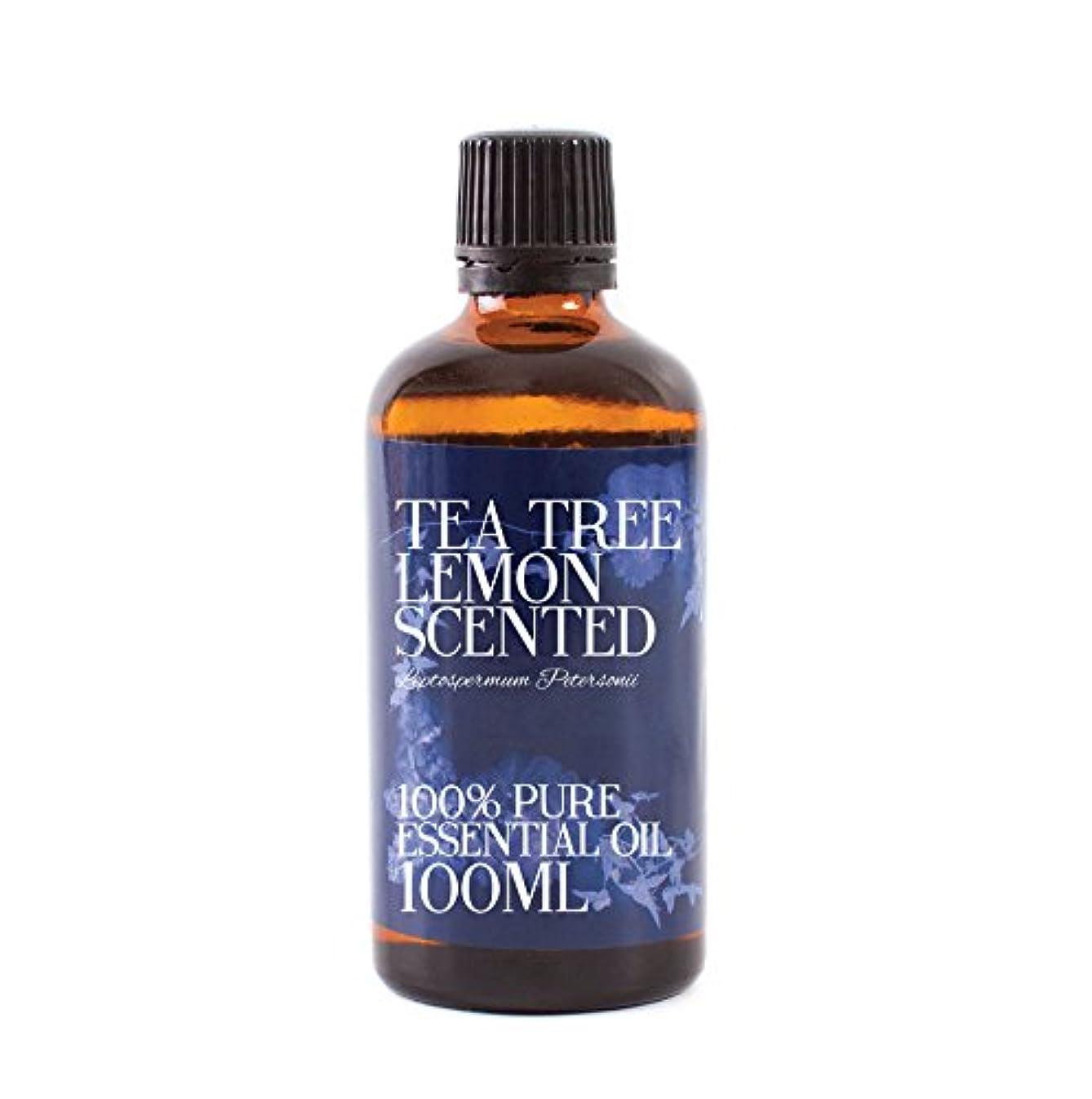 ビジョン謙虚な束ねるMystic Moments | Tea Tree Lemon Scented Essential Oil - 100ml - 100% Pure