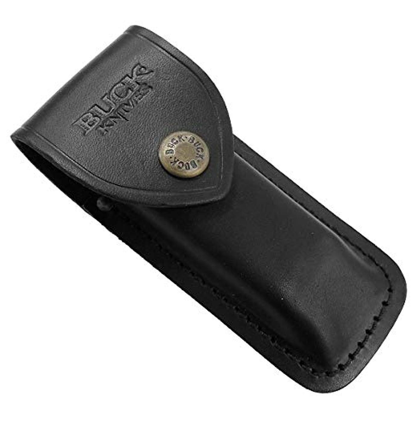 クラウン権限マグバックナイフ BUCK 112-05-BK 112用 皮ケース 黒 (112S)