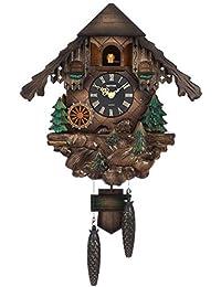 鳩時計 掛け時計 カッコーヴァルト オルゴール ブラウン リズム時計 4MJ422SR06