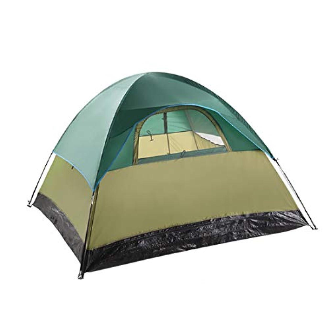 応じるスポーツの試合を担当している人土地人民の東の道 屋外キャンプ用の3人用と4人用のテント (色 : オレンジ)