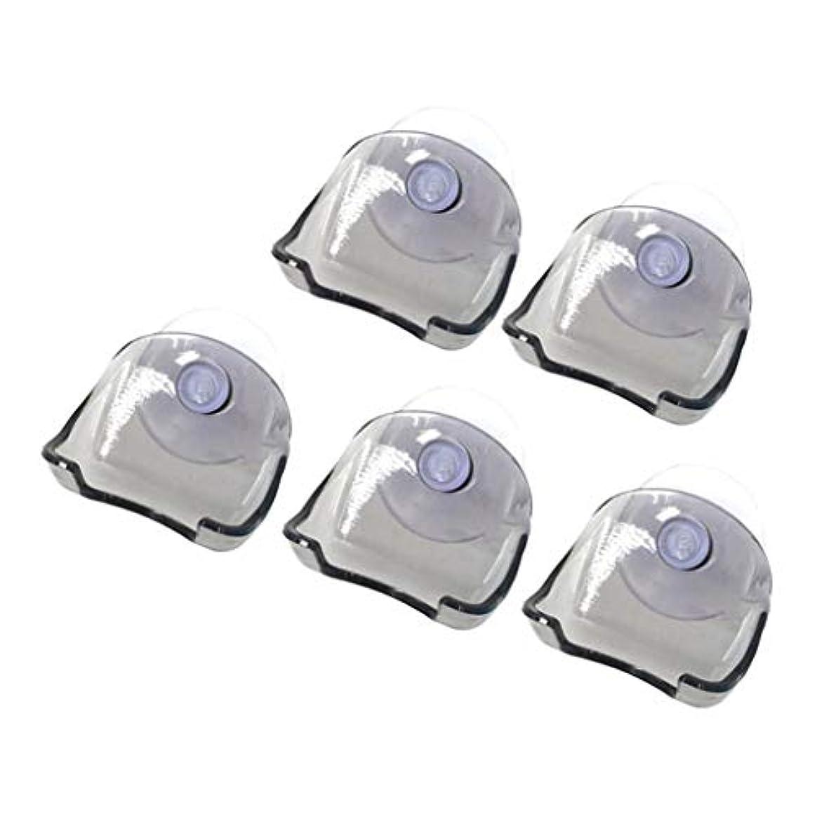 介入するラダゆりHellery シェーバーホルダー シェーバーラック シェーバースタンド プラスチック製 吸盤 バスルーム 洗面台 5個 全2色 - グレー