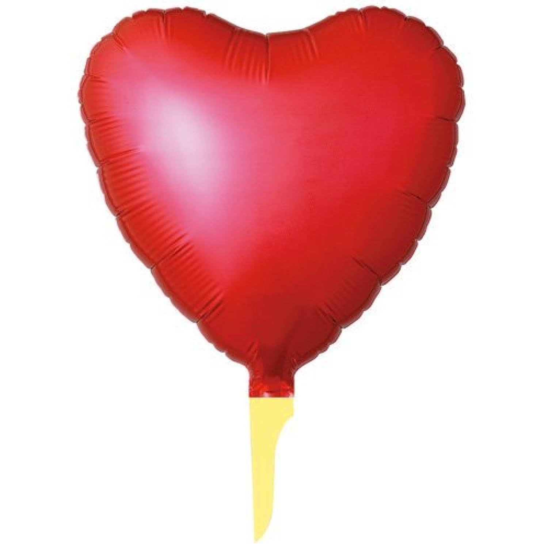 アルミハート風船  25㎝ハート レッド10枚入り フリルのない美しいピュアカットバルーン