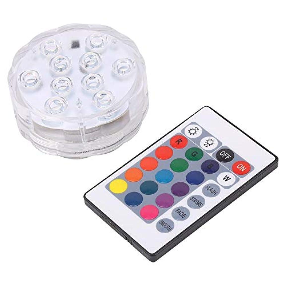 バルブパートナーバーベキュー潜水可能 RGB LEDティーライトを変更する 花瓶 ウェディングパーティー 複数色の防水 花ランプ バッテリー魚タンク 装飾