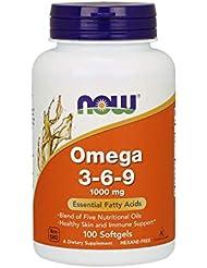 [海外直送品] ナウフーズ 植物性オメガ3?6?9脂肪酸 1000mg(必須脂肪酸ミックス)