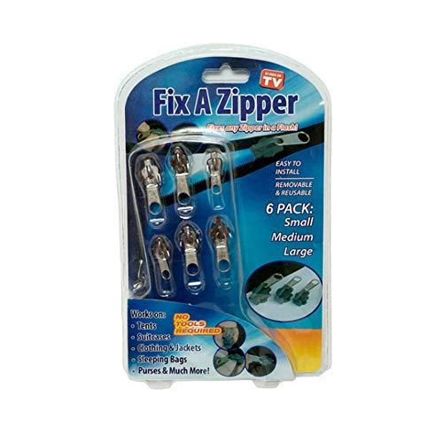 Cangad ジッパー 多機能ジッパーヘッド 交換用 diy ジッパー 修理コート ファスナー修理 修理方法 簡単 手作り ファスナー引っ張り ジッパー破損した時に強い味方