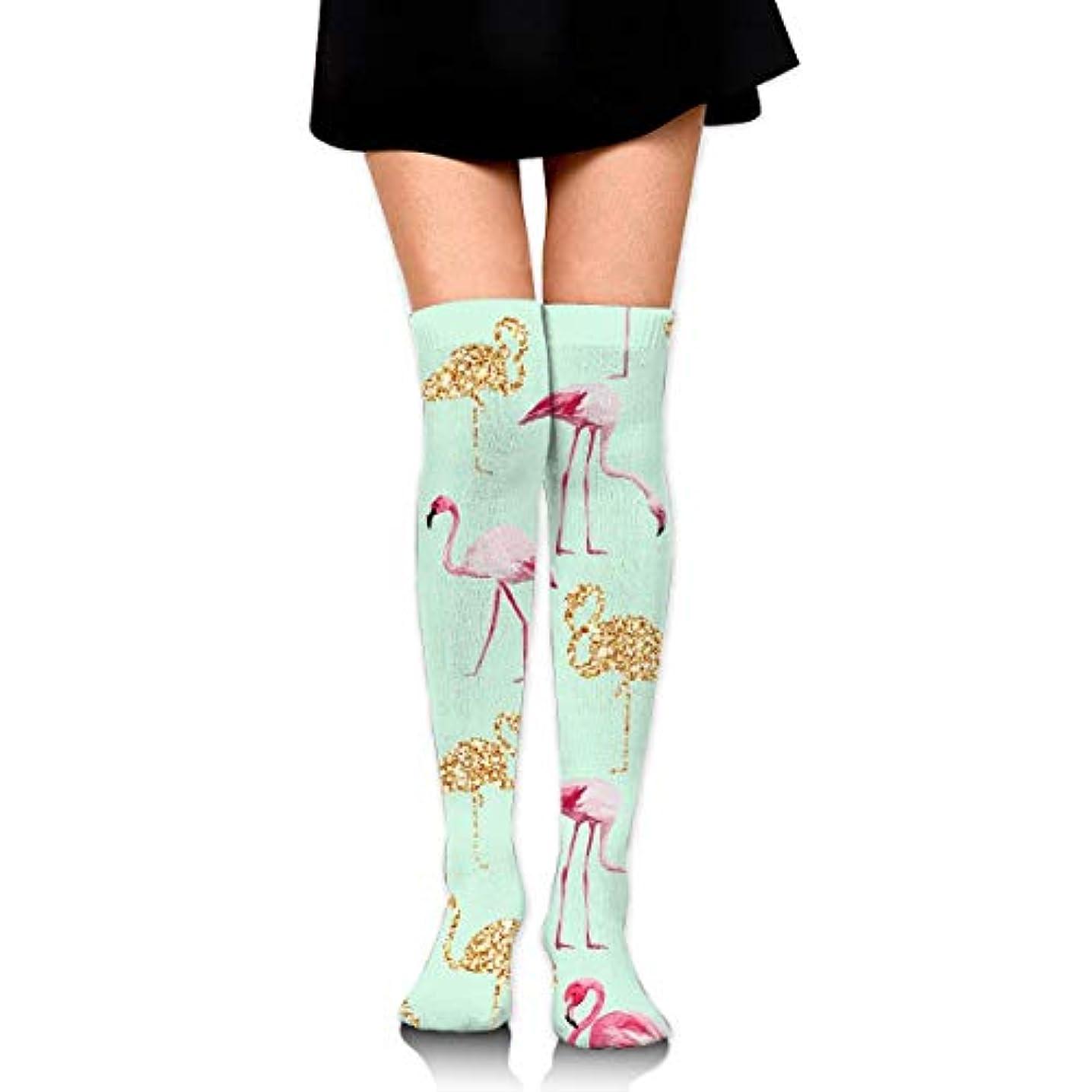 日食セットアップティーンエイジャーMKLOS 通気性 圧縮ソックス Breathable Classic Warmer Tube Leg Stockings Flamingo Mint Green Exotic Psychedelic Print Compression...