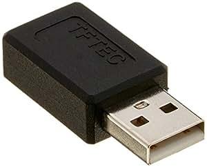 変換名人 スマートフォン 変換アダプタ USB A オス - microB メス USBAA-MCB
