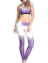 VITryst 女性の競技の快適な印刷のシームレスなヨガトレーニングウェアセット