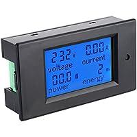 KKmoon AC80-260V 100A 多機能メーター デジタルメーター LCDメーター 電流/電圧/アクティブ電力/エネルギー検出テスター 流計電圧計 インダクタ付き