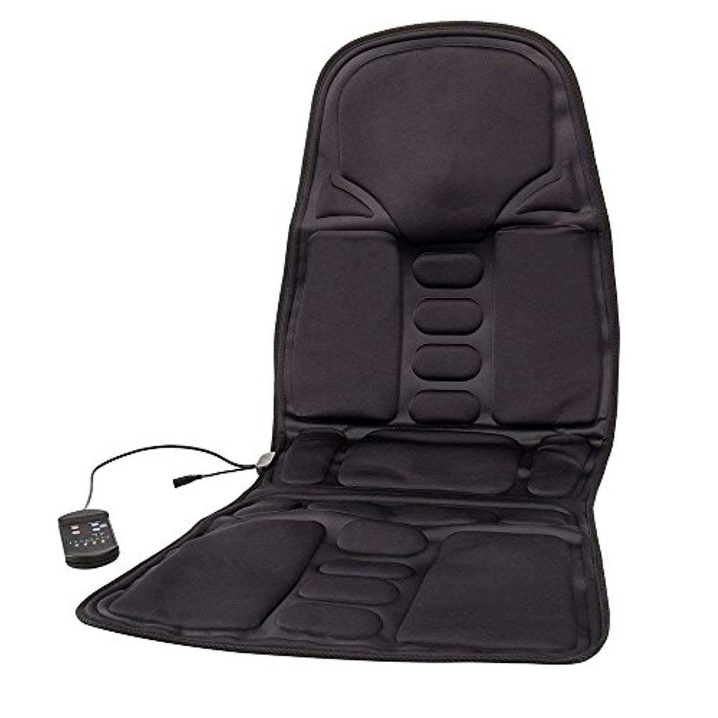関数スワップ切手Bestjunly マッサージシート 車 カーシート 12V 黒 8段階マッサージモードフリー交換 座席ヒートクッション ヒーター搭載 高品質 ブラック