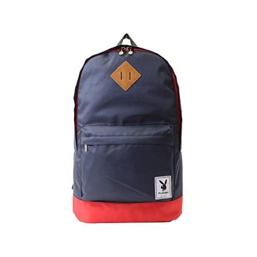 (プレイボーイ) PLAYBOY バッグ BAG ラビットヘッド バイカラー リュックサック バックパック ポリエステル ブランド 並行輸入品 NV×RD