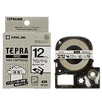 (まとめ) キングジム テプラ PRO テープカートリッジ アイロンラベル 12mm 黒文字 SF12K 1個 【×5セット】 〈簡易梱包