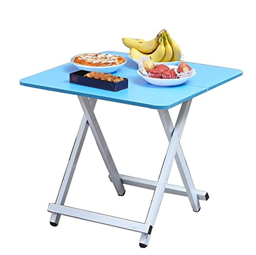 シーケンス怪しい珍しい屋外折りたたみピクニックテーブルデスク多機能ポータブルレストランキャンプバーベキューガーデンテラス自動運転ハイキングビーチヤードホームレジャー軽量頑丈で丈夫なマルチカラーオプション (色 : 青)