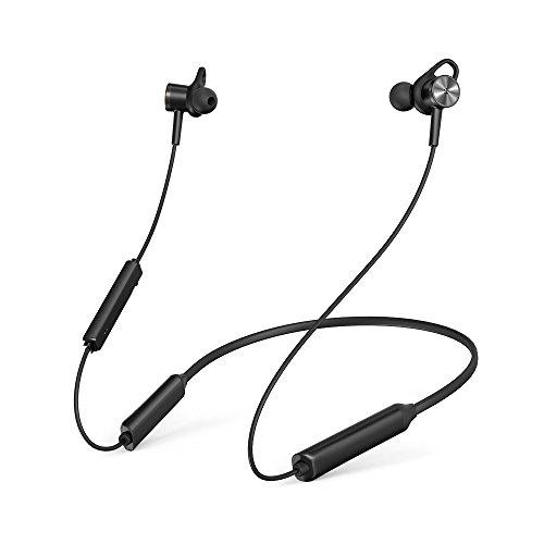 TaoTronics ANC ノイズキャンセリング Bluetooth イヤホン (IPX5防滴16時間連続再生 マグネット搭載) MEMSマイク内蔵 ノイキャンイヤホン TT-BH042 (ブラック)