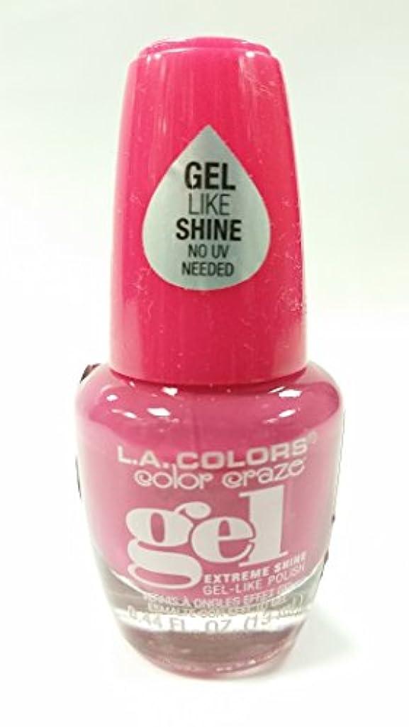 センチメンタル好む本土LA COLORS Color Craze Gel Polish Socialite (並行輸入品)