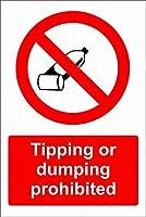 チップまたはダンピング禁止 メタルポスタレトロなポスタ安全標識壁パネル ティンサイン注意看板壁掛けプレート警告サイン絵図ショップ食料品ショッピングモールパーキングバークラブカフェレストラントイレ公共の場ギフト