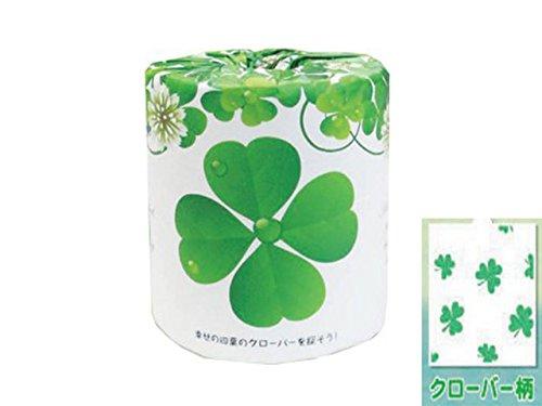 個包装トイレットペーパー【林製紙 幸せの四葉のクローバーを探そう】1ケース100個