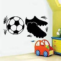 Xueshao 子供部屋の取り外し可能な自己接着Wallpaper58x29cmのためのスニーカーそしてフットボールの壁のステッカー