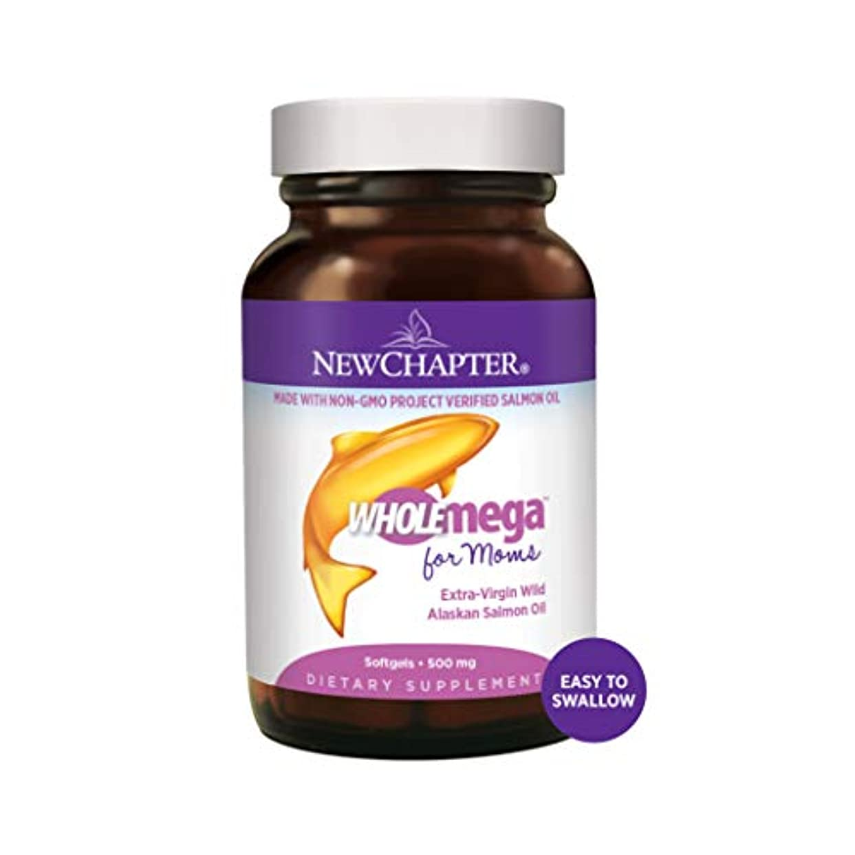 処理一定蓮【妊婦さん用フィッシュオイル】New Chapter社 - Wholemega Prenatal 500 mg - 90 Softgels  ~海外直送品~