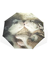AOMOKI 折り畳み傘 折りたたみ傘 手開き 日傘 三つ折り 梅雨対策 晴雨兼用 UVカット 耐強風 8本骨 男女兼用 ハスキー 犬