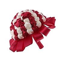 チャームウェディングブーケブライダルブライドメイド人工花バラ手作り装飾 - タイプ7