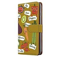 Galaxy Note10+ (SC-01M・SCV45) ケース 手帳型 ミラータイプ [オーガニック・マスタード] ベジタブル キャラクター ギャラクシー ノートテンプラス スマホケース 携帯カバー [FFANY] organic-190@04m