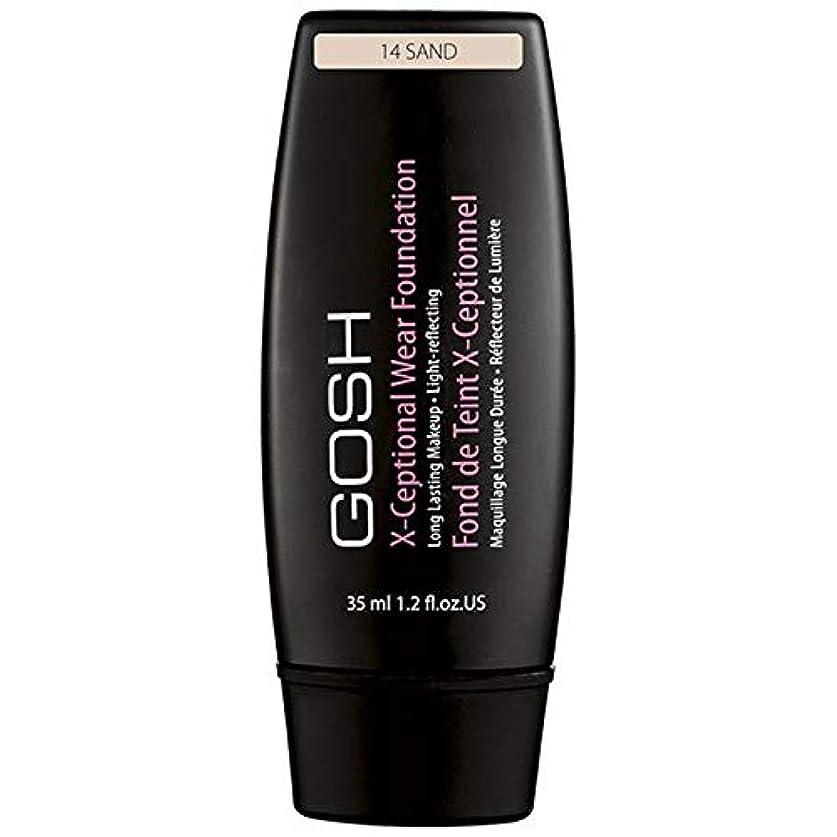 防止受粉者熱狂的な[GOSH ] おやっX-Ceptional砂14を構成して着用 - Gosh X-Ceptional Wear Make Up Sand 14 [並行輸入品]