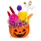 プリザーブドフラワー 鉢花 ハロウィン かぼちゃ パンプキン ジャック・オー・ランタン Jack-o'-Lantern サイズ幅14cm長さ14cm高さ20cm ハロウィンかぼちゃ (2019新版ハロウィーン飾り)