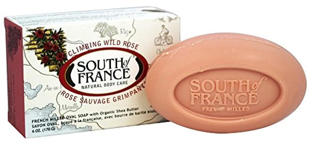 泣いている急流フロンティアSouth of France - 野生のローズに上るフランスの製粉された野菜棒石鹸 - 6ポンド