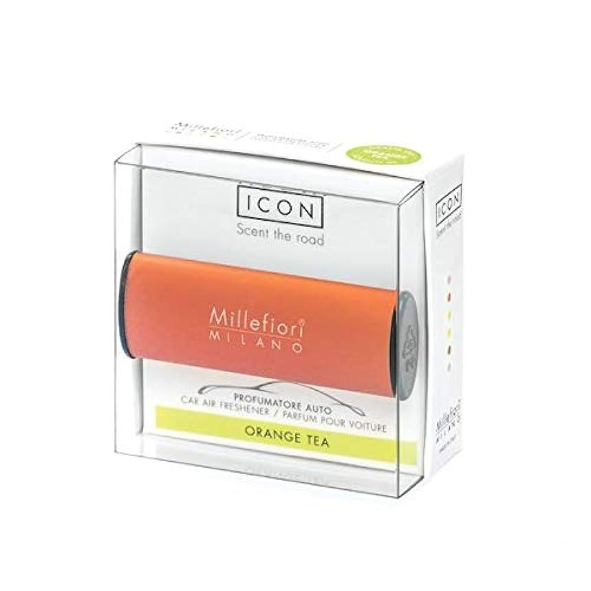 応用インレイ二年生ミッレフィオーリ(Millefiori) カーエアフレッシュナー ICON CLASSIC ORANGE - オレンジティー(ORANGE TEA) [並行輸入品]