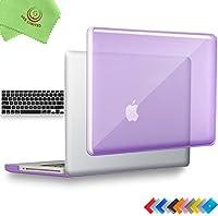 ueswill 2in1光沢クリスタルクリアSee Throughハードシェルケースとシリコンキーボードカバーfor MacBook Pro +マイクロファイバークリーニングクロス MacBook Pro 13'' (Non-Retina) UES03C13P2-06