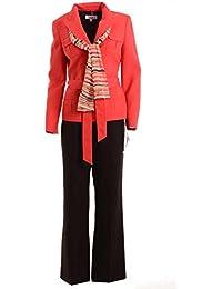 Le Suit Women 's Boboli Gardensスカーフベルト付きパンツスーツ