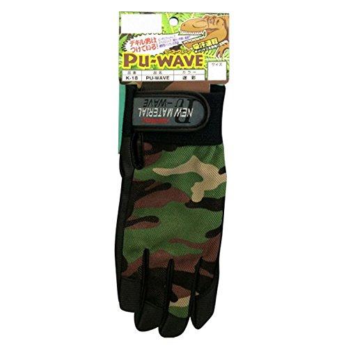 [해외]おたふく手袋 가죽 장갑 PU-WAVE 위장 M K-18/Leather gloves made from mumps PU-WAVE Camouflage M K-18