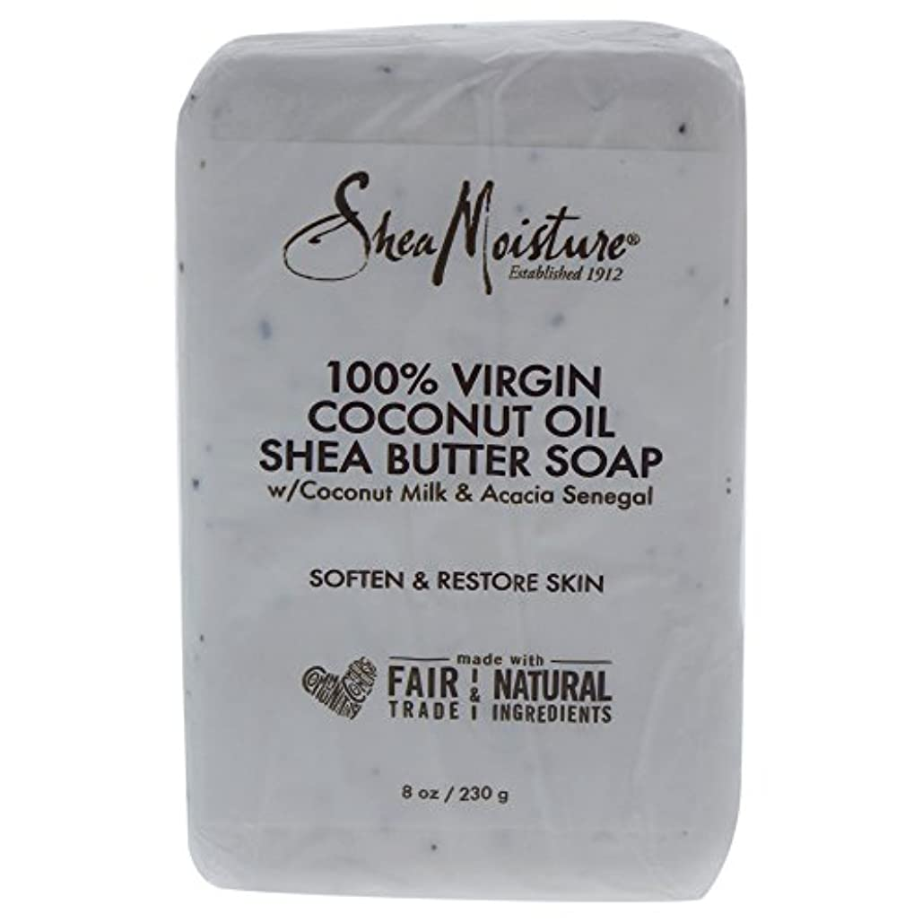 パシフィック結婚式火山学Shea Moisture バーソープ (100% Virgin Coconut Oil Shea Butter Soap)