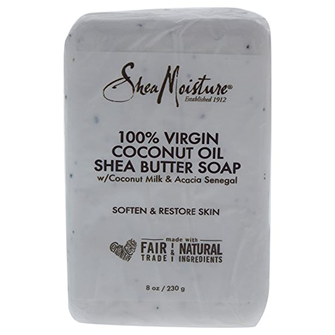 おなじみの港ふさわしいShea Moisture バーソープ (100% Virgin Coconut Oil Shea Butter Soap)