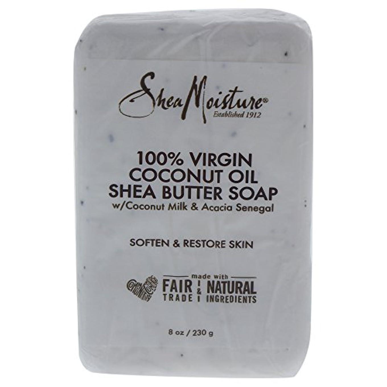 眉をひそめる放映ラフトShea Moisture バーソープ (100% Virgin Coconut Oil Shea Butter Soap)
