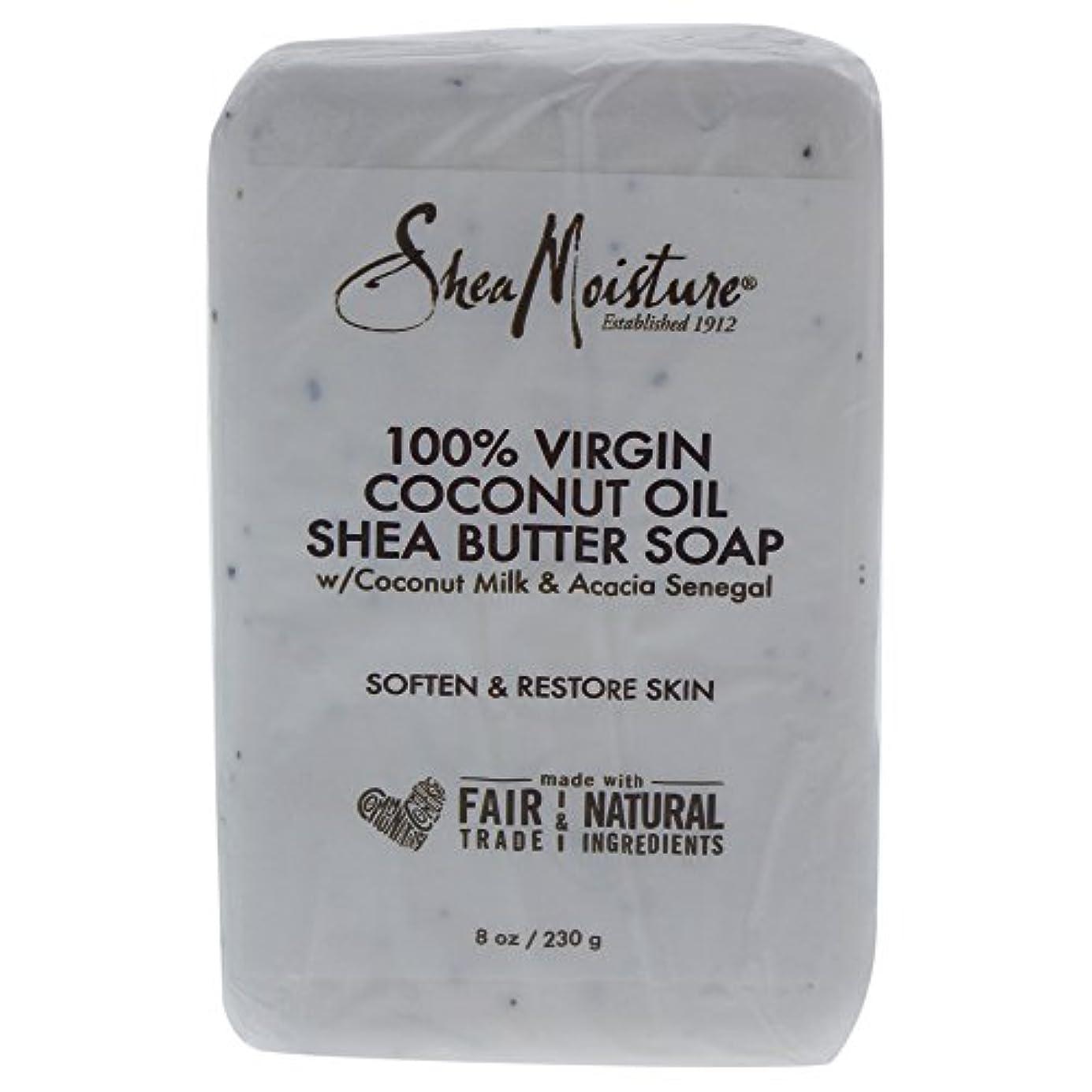 海藻試験ライラックShea Moisture バーソープ (100% Virgin Coconut Oil Shea Butter Soap)