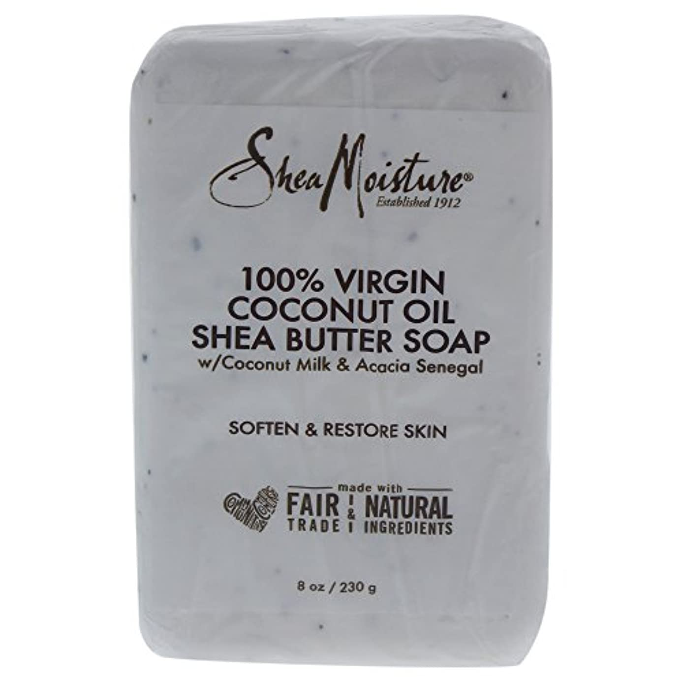 活気づける正しくしなやかShea Moisture バーソープ (100% Virgin Coconut Oil Shea Butter Soap)
