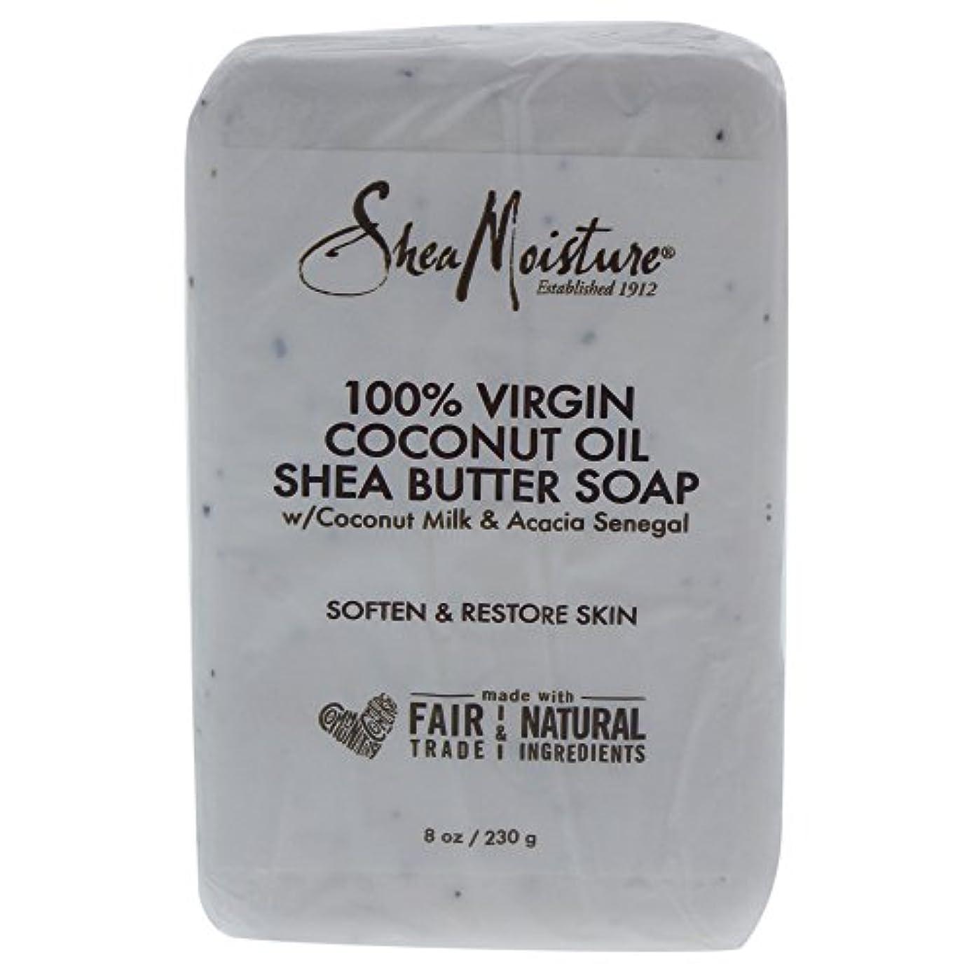 肘掛け椅子ドック一緒にShea Moisture バーソープ (100% Virgin Coconut Oil Shea Butter Soap)