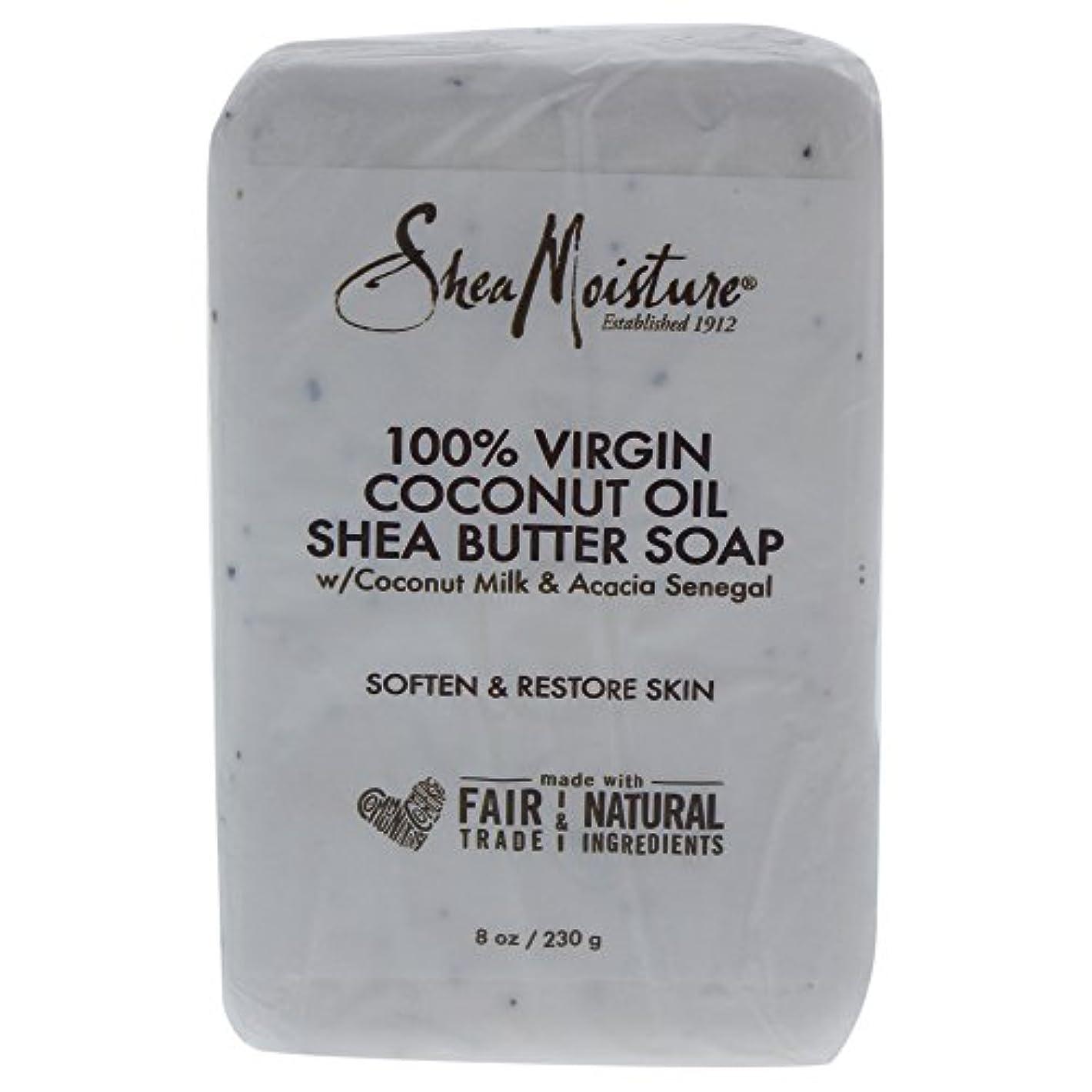 慈悲深い脚本休戦Shea Moisture バーソープ (100% Virgin Coconut Oil Shea Butter Soap)