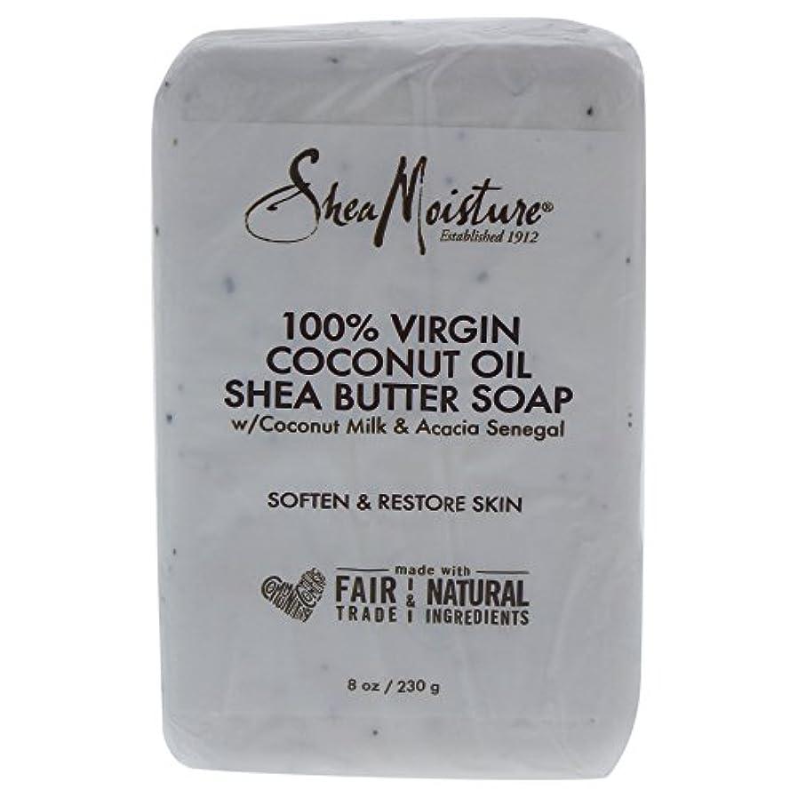 起きてバスの量Shea Moisture バーソープ (100% Virgin Coconut Oil Shea Butter Soap)